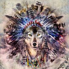 """20 Servietten """"Magic Wolf"""" Deko-Trend Herbst Tier Federn*33x33 Indianer Mystik"""
