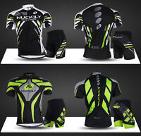 Pro Men Cycling Jersey & Short Pants Sets Short Sleeve Bike Bicycle Jerseys Suit