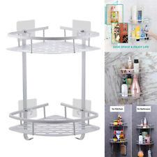 2 Tiers Shower Corner Caddy Organizer Bathroom Bath Storage Holder Rack Shelf