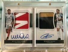 18 National Treasures Soccer England Dual Patch Auto Harry Kane / Walker 1/15
