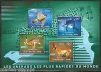 CENTRAL AFRICA  2014  FASTEST ANIMALS  SHEET   MINT NH