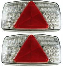 2X Led Combo Trailer Caravan Rear Lamp Light Maypole 12V 24V Mp8603Bl Mp8603Br