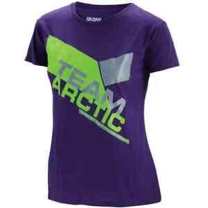 New Women's Arctic Cat Race Team T-Shirt ~ Purple ~2XL~ # 5299-058