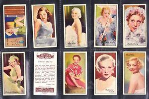 Carreras Cig Cards1935  Set 96 Famous Film Stars (No rare varieties here) (F26)