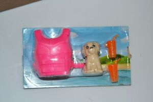 Barbie BEACH ITEMS LIFE PRESERVER FLOAT DOG DRINK GLASSES FOR DIORAMA 1:6 SCALE