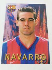 POSTAL FERNANDO NAVARRO FC BARCELONA 2002-2003 FOOTBALL POSTCARD BARÇA