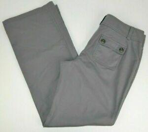 Ann Taylor Women's Signature Fit Just Below Waist Boot Cut Pants, Gray 8