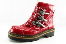 Geier Wally Boot Sz 38 M Short Boots Round Toe Red Patent Leather Women
