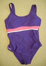 NABAIJI Purple/Pink ONE-PIECE SWIM SUIT Beach Pool Racing Women's SIZE S/M Cute!