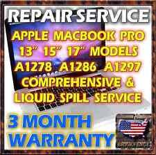 MACBOOK PRO A1278 A1286 A1297 LAPTOP LOGIC BOARD REPAIR & LIQUID SPILL SERVICE