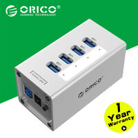 ORICO Aluminum 30W 4 Port USB 3.0 HUB 5Gpbs with12V/2A Power Supply For Laptop