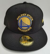 buy popular b3387 827f3 Golden State Warriors New Era Black Official Team Color 59FIFTY Fitted 7  1 4 Hat