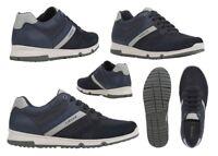 Scarpe da uomo Geox WILMER sneakers casual basse vera pelle da passeggio estive