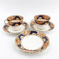 Antique Art Deco Royal Albert Crown China Set of 2 Teacups & 3 Saucers 6550