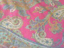 Fabulous Hot Pink Paisley Ralph Lauren Queen Duvet Cover+Sham