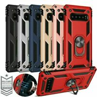 Military Armor Case For Samsung Note 20 S20 S9 Note10 Magnetic Ring Holder Cover