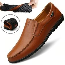 New Genuine Leather Breathable Loafers Daily Wear Shoes for men  - Free shipping