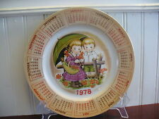 A GREAT YEAR! Porcelain Alpine Collection Chadwick Miller 1978 Calendar Plate