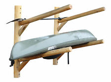 Log Kayak Rack 2-place Wall-mount Unfinished