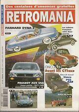RETROMANIA 109 CATALOGUES PANHARD DYNA Z PEUGEOT USA 1977 1991 AVANT LES GTI