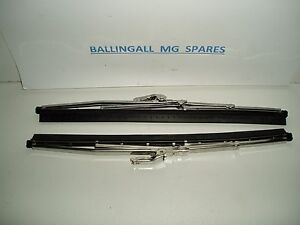 "560-390  MG MGB MK1 STAINLESS STEEL WIPER BLADES 5 MM  X 2 (PAIR) 10"" 1963-67"