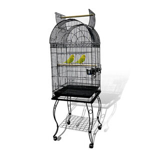 New Open Top Dome Top Cage Bird Cage Pigeon Cage Parrot Aviary Black Vein Color