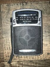 Radio Shack Pocket Radio Model 12-464 AM / FM Portable Radio TESTED WORKS GREAT!