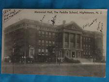 Vintage HIGHTSTOWN New Jersey Wilson Peddie SCHOOL NJ Postcard Vintage 1933