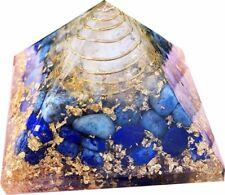 Extra-Large70-75MM-Lapis Lazuli-Stone-Orgorne-Natural-Gemstone-Pyramid-Organit