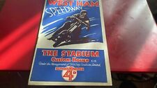 More details for west ham hammers--open championship--speedway programme--25th august 1931