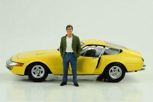 70`S Mann Klaus Figurine Figurines Driver 1:18 American Diorama VII No Car