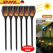 8x96LED Solar Fackel Garten Licht Tanzen Flackernde Flamme Landschaft Lampe Deko