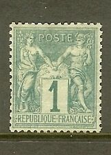 """FRANCE STAMP TIMBRE N° 61 """" TYPE SAGE 1c VERT """" NEUF (x) A VOIR"""