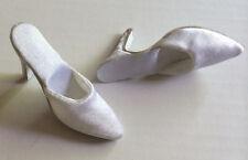 "Doll Shoes WHITE SATIN fit CANDI 16"" Fashion Dolls Tyler Gene Alex Hamilton Toys"