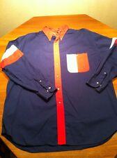 Men's Western Cowboy Shirt Wrangler Red/White/Blue Rockabilly Size Xl