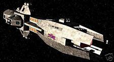Triton Babylon-5 Spacecraft Mahogany Wood Model Large New