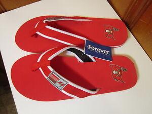 Tampa Bay Buccaneers NFL Football Red Beach Flip Flop Men XL 13-14 Sandals Cloth