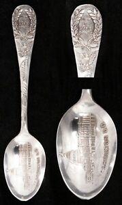 Vintage Silverplate Souvenir Collector Spoon Washington DC Liberty Bell Peace