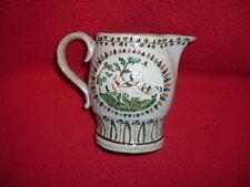 Staffordshire Prattware Pitcher Enamel Decorated Peacocks Great Color Mint 1810