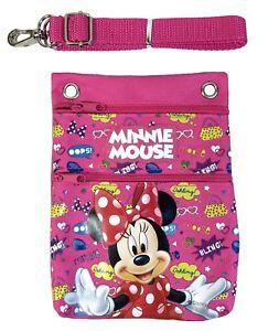 "Disney Pink Minnie Mouse Wallet Camera Pouch Bag Purse Shoulder Strap 7.5"""