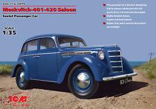 ICM 35479-Moskvitch-401-420 Saloon, Soviet Passenger 1/35 scale model kit 111 mm