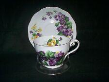 Royal Standard Lavender Lady Tea Cup & Saucer Set VIOLETS England + FREE Stand
