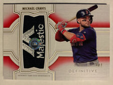 2020 Topps Definitive Michael Chavis Majestic Logo Patch Relic Fathers Day 1/1