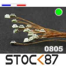 C157# LED CMS pré-câblé 0805 vert  fil émaillé 5 à 20pcs - green LED