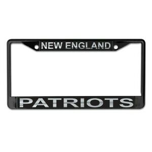 NEW ENGLAND PATRIOTS MIRRORED METAL LICENSE PLATE FRAME QUALITY DOMED GRAPHICS
