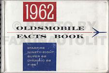 1962 Olds Facts Book Dealer Album Starfire 98 88 Cutlass F-85 Oldsmobile Data