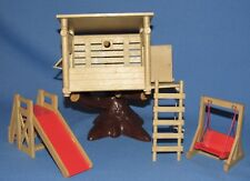 1985 EPOCH CALICO CRITTERS SYLVANIAN FAMILIES TREE HOUSE w/ SLIDE AND SWING