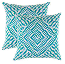 TreeWool (2 Pack) Cotton Canvas Kaleidoscope Accent Decorative Throw Pillowcases