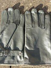german army luftwaffe pilot gloves grey biker sia xl UK 10-11