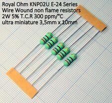 5 pezzi Resistenza a filo avvolto 33 Ohm 33R 2W 5% Royal Ohm KNP02U 300ppm/°C